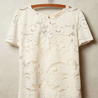 Lace Opacity Tee by Champagne & Strawberry Ivory