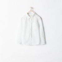 Roll-sleeve shirt with pocket