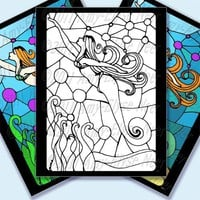 Coloring Book Page Mermaid