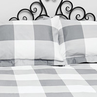 Essenza Check Double Duvet Set in Grey - Urban Outfitters