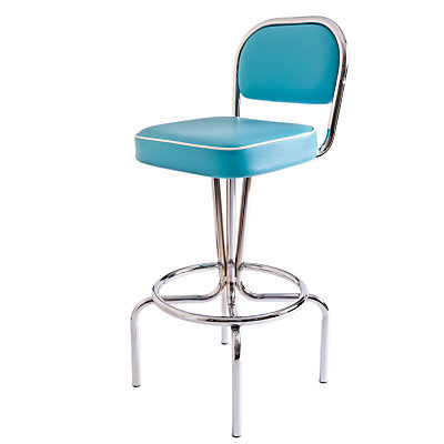 Buy Cola Red American Retro Manhattan Bar Chair, Ocean online at JohnLewis.com
