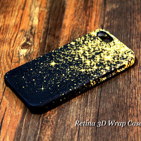 Gold Glitter iPhone 6 PLus/6/5S/5C/5/4S/4 3D Wrap Case - iPhone