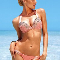 Bombshell™ Adds 2 Cups Push-Up Halter Top - Bombshell™ Swim Tops - Victoria's Secret