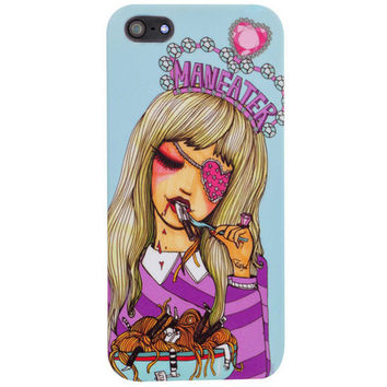Maneater iPhone 5 Case - Girl eating a man pasta artistic phone case