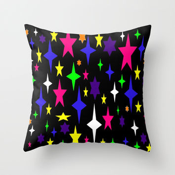 Colorful Stars Throw Pillow by 2sweet4words Designs | Society6