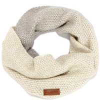 Billabong Hugs and Slopes Grey and Cream Infinity Scarf