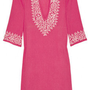 Discount Melissa Odabash Briony embroidered cotton kaftan|THE OUTNET