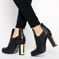 Cut Out Heeled Ankle Boots