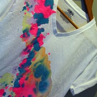Watercolor Drip Tee - Medium