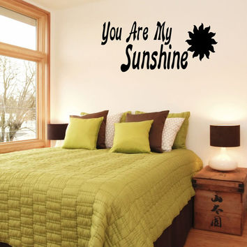Wall Decals Vinyl Decal Sticker Wall Murals Wall Decor You Are My Sunshine (OS259)