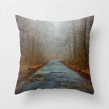 Mysterious Forest Throw Pillow by Pati Designs   Society6