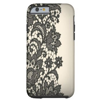 Vintage black Lace beige Paris fashion iPhone5case