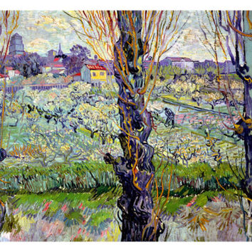 View of Arles, c.1889 Giclee Print by Vincent van Gogh at Art.com