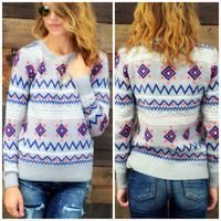Candy Land Grey Sweater