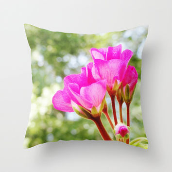Near Bloom Throw Pillow by 2sweet4words Designs