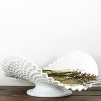 Vintage Hobnail Milk Glass Banana Bowl by GlassnMore on Etsy