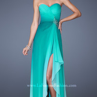 La Femme Ombre Strapless Prom Gown