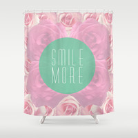 Smile more Shower Curtain by siobhaniaa