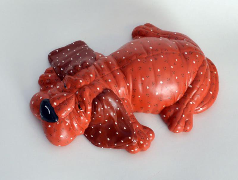 Ceramic SoftSculptureLook Puppy by RiverRockArts on Zibbet