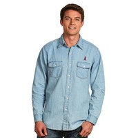 Antigua Los Angeles Angels of Anaheim Chambray Button-Down Shirt - Men (Blue)