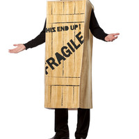 'Fragile' Wooden Crate Christmas Story Costume - Adult | zulily