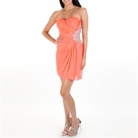 Morgan & Co. Juniors Jeweled Side Dress with Cutouts at Von Maur