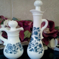 Avon Milkglass Decanters
