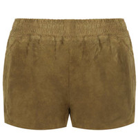 **SUEDE RUNNER SHORTS BY KATE MOSS FOR TOPSHOP