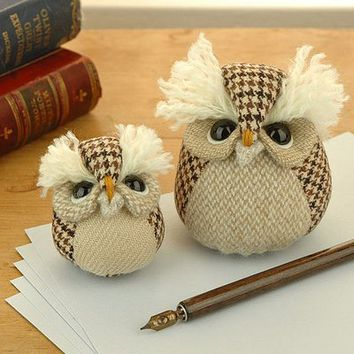 Fancy - collectible handmade paperweight owl by mirjami design | notonthehighstreet.com