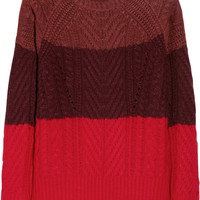 Marc by Marc Jacobs Connolly color-block wool-blend sweater – 60% at THE OUTNET.COM