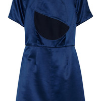 Marc by Marc Jacobs Etta wool and silk-blend satin dress – 55% at THE OUTNET.COM