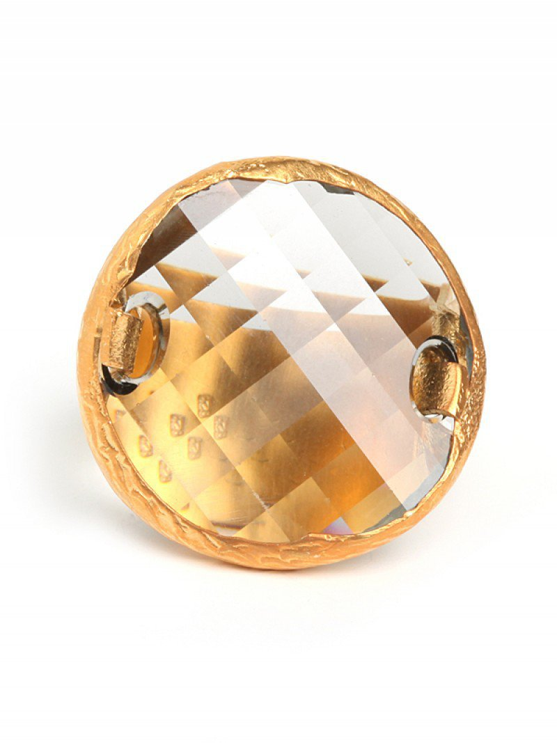 BaubleBar | Cocktail Rings - Quartz Disc Ring - Fashion Jewelry