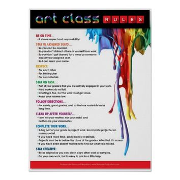 Rules for the Art Classroom