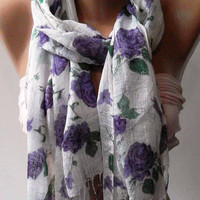 purple  - Silky Touch - Elegance Shawl / Scarf