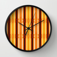 Pattern gold Wall Clock by Christine baessler