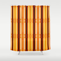 Pattern gold Shower Curtain by Christine baessler