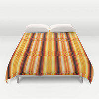 Pattern gold Duvet Cover by Christine baessler