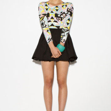 MARKET HQ | Stain Glass Skater Dress