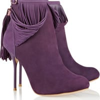 Sophia Webster Kendell fringed suede ankle boots – 50% at THE OUTNET.COM