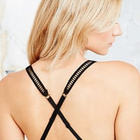Silence + Noise Ladder Trim Bra in Black - Urban Outfitters