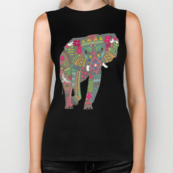 painted elephant Biker Tank by Sharon Turner | Society6
