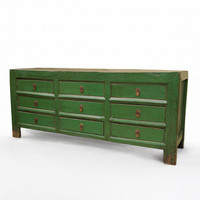 Green Money Chest with 9 Drawers | South of Market