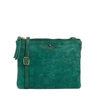 Selected Wanna Leather Cross Body Bag in Green