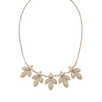 Long Deco Leaf Necklace | Gold | Accessorize
