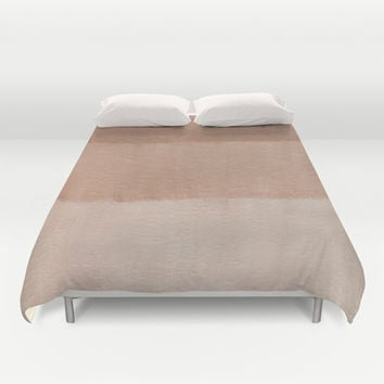 Dusty Rose Ombre Duvet Cover by Corbin Henry