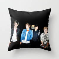 5SOS Amnesia single cover Throw Pillow by kikabarros