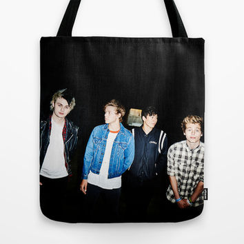 5SOS Amnesia single cover Tote Bag by kikabarros