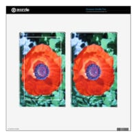 Poppy Flower Decal For Kindle Fire