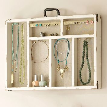 Wall Suitcase Jewelry Holders