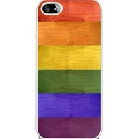 Rainbow Wood Grain - iPhone 5 or 5s Cover, Cell Phone Case - White:Amazon:Cell Phones & Accessories